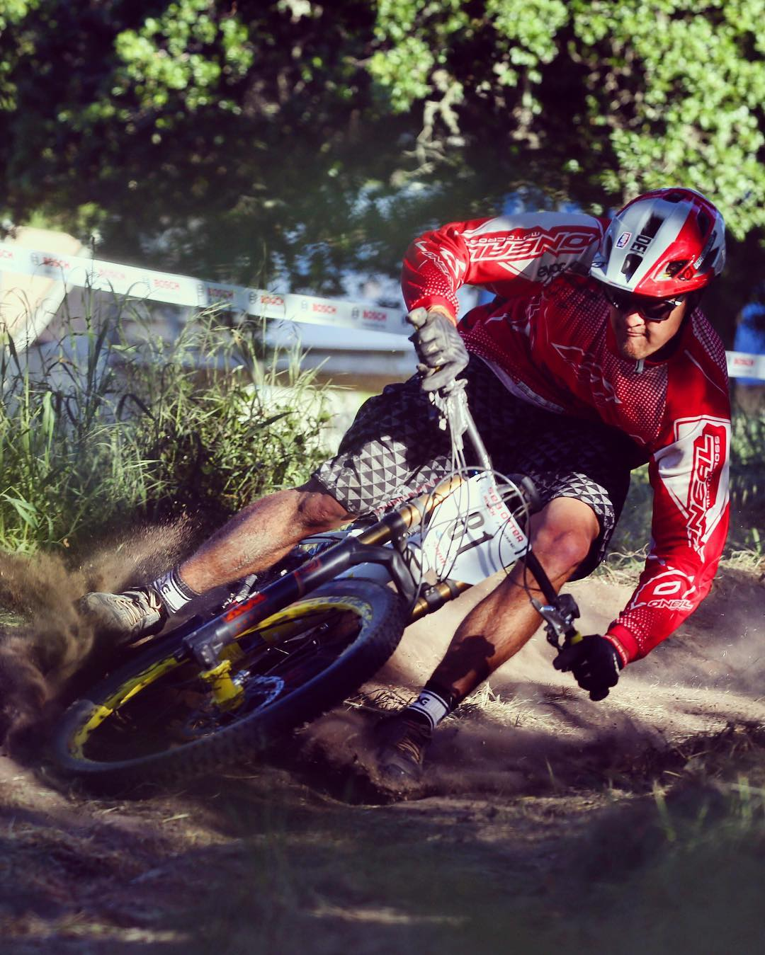 Railing a berm at the last Haibike  #eMTB race in california with @ejko28 . Who's up for another race! #Haibike #XDURO #mtb