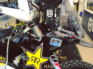 Wicked #Husqvarna #rally bike in the pits at #Erzbergrodeo