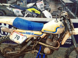 Love this old old husky. We used this Color scheme as the base for the relaunch of the brand for the 2014 models. #Husqvarna #500tc #moto