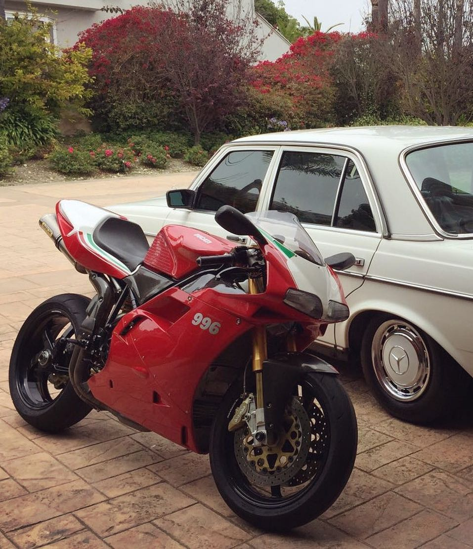 Our buddy @pjr273 owns one of the fastest and least reliable motorcycles, and one of the slowest and most reliable cars! 😋 Either way he certainly rolls in style! #Ducati #Mercedes