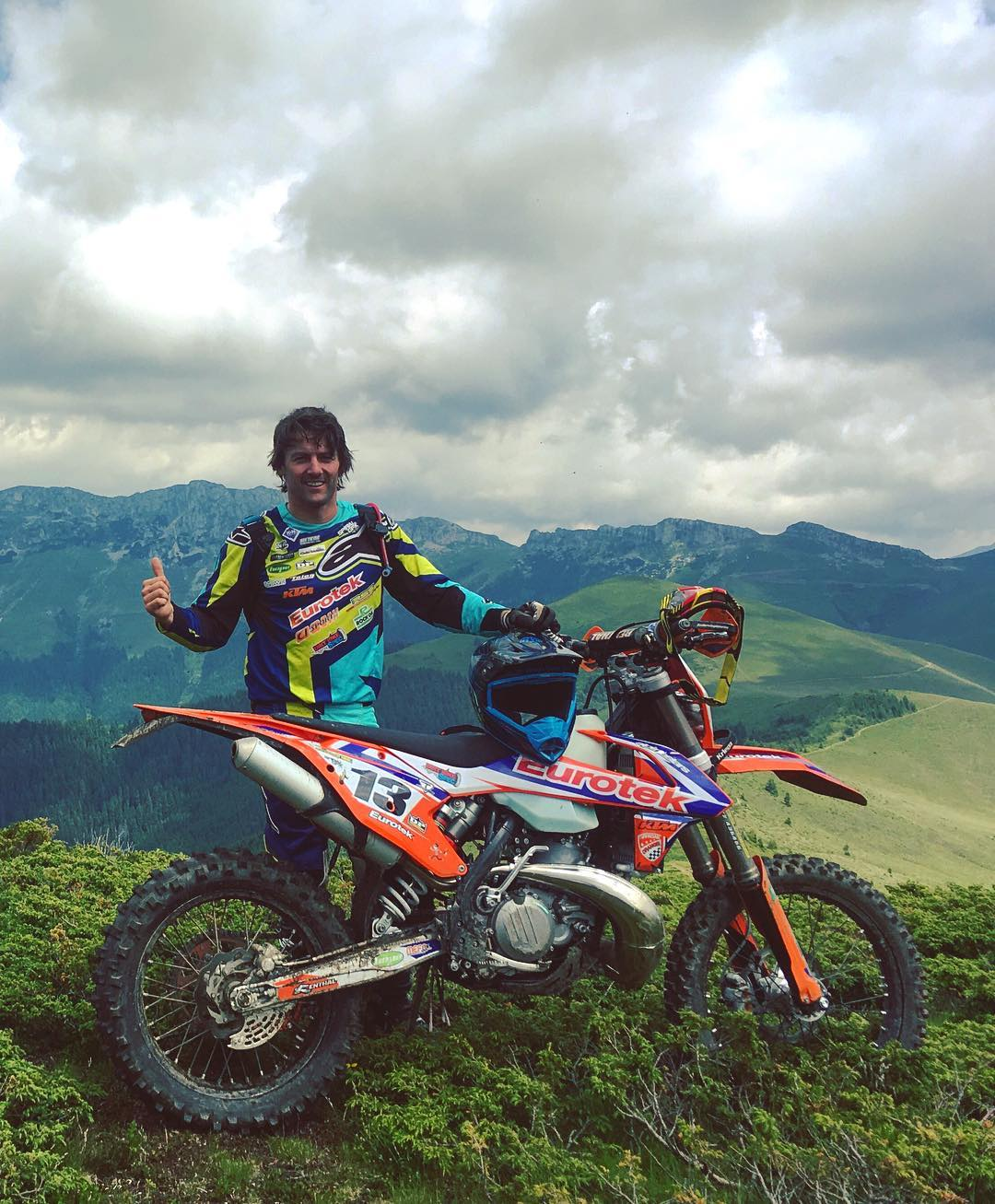 Great shot sent to us by @paulboltsenduro out in Romania training for this years #Romaniacs on his new 2017 #ktm EXC.