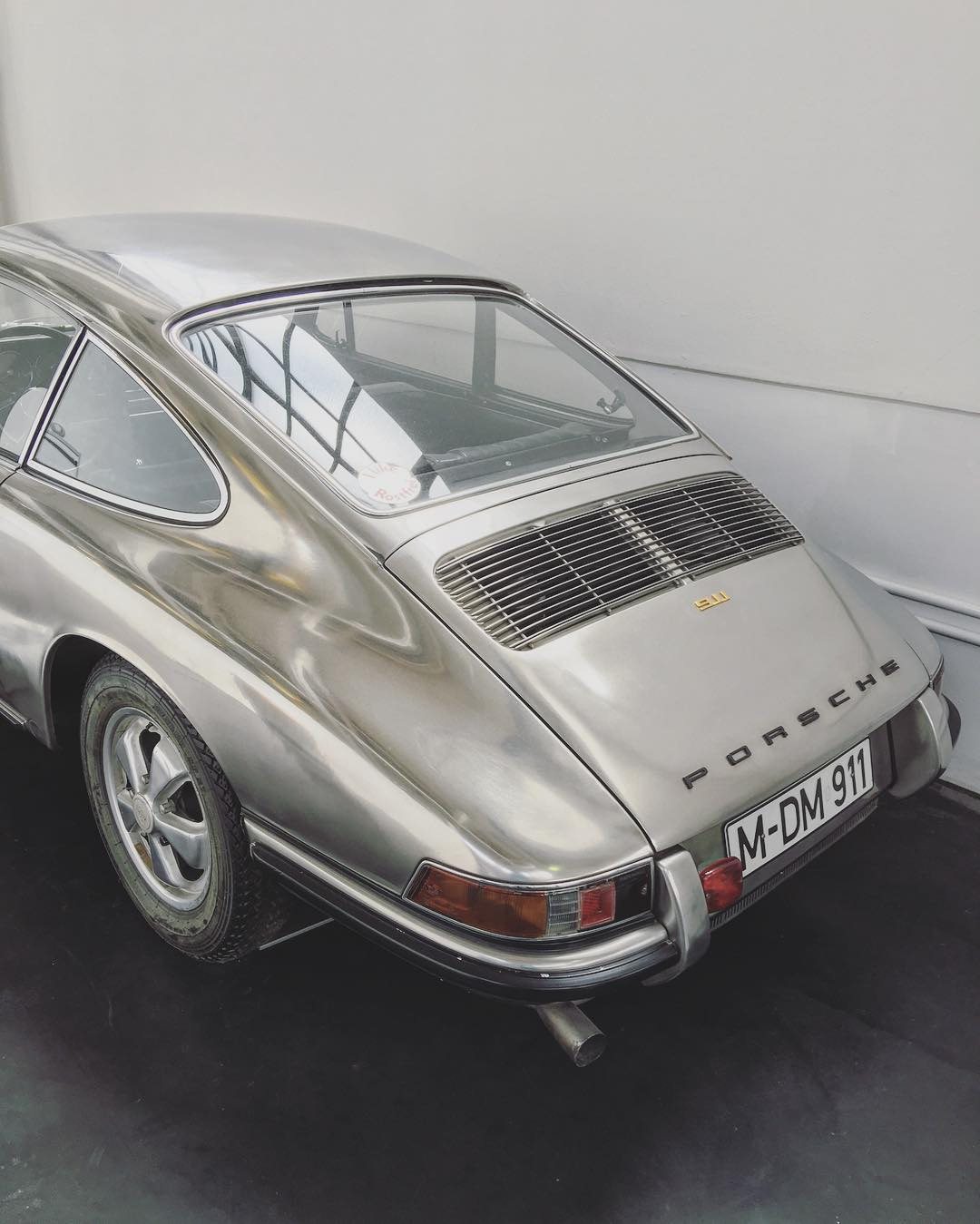 This was the car they used in 1967 as the test model for the use and processing of non-corroding steels in Automobile manufacturing. In it's 7 years and 150, 000 km of operation the material passed all tests. An Historic car. Plus it looks dope.  #Porsche #911s