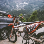 A few of my favourite things. Moto, mountains, 2 strokes, graphics, KTM, photography, @xbowlarena and that #msport beema :) Big post on DE from riding yesterday and of the new @backyarddesign graphic kit on the #ktmexc #enduro