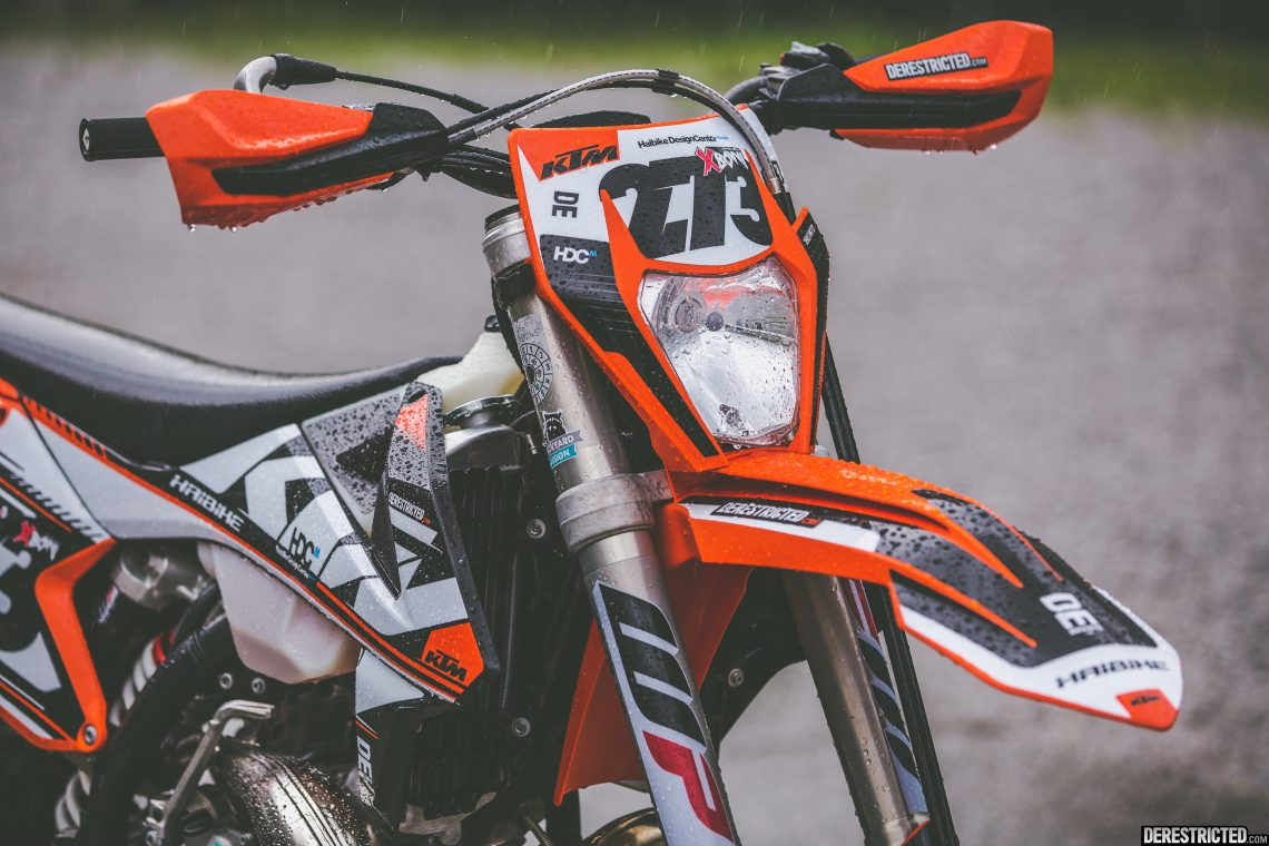 2017 KTM 300EXC – Custom graphics kit – DERESTRICTED