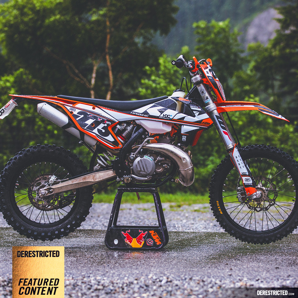 KTM EXC Custom Graphics Kit DERESTRICTED - Custom motorcycle stickers kits