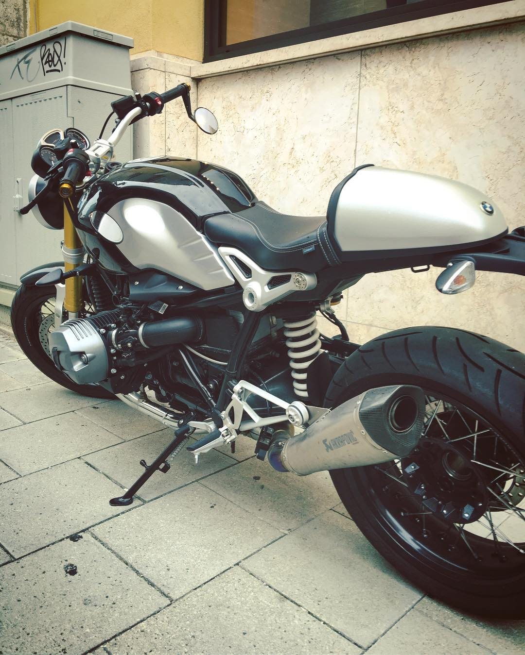 This bike is stalking me! Need one. #BMW #RNineT