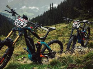 Wet and wild for the #eMTB #enduro race at Leogang! The ideal bike for these trails would actually be the #dwnhll ! #Haibike #xduro