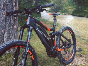Not your average mountain bike. #haibike #sduro #eperformance #mtb #emtb #ebike #yamaha #magura #allmtn