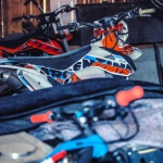 Some old designs in the workshop. #ktm #de_portfolio #enduro #moto