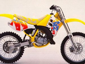 "I was telling my son this week about one of my first and all time favourite motoX bikes and when I googled it I found this image as part of an article titled ""The Ugliest Bikes Ever' by @pulpmx ! Well, my son said, Papa, I really like the design, why doesn't this guy, and so I gave him a bit of a talk about beauty being in the eye of the beholder. Anyway, The funny thing is, this bike, because it was so loud and so different and so much more exciting  than anything I had ever seen before as a kid growing up in rural England, totally made me fall in love with motoX and actually even got me into design! Many years later this eventually lead me to a career as a designer and then me designing the bike GFX for 8 years for KTM and then Husqvarna! I think to this day I still never did a design as fun as this! #suzuki #moto #design #motocross"