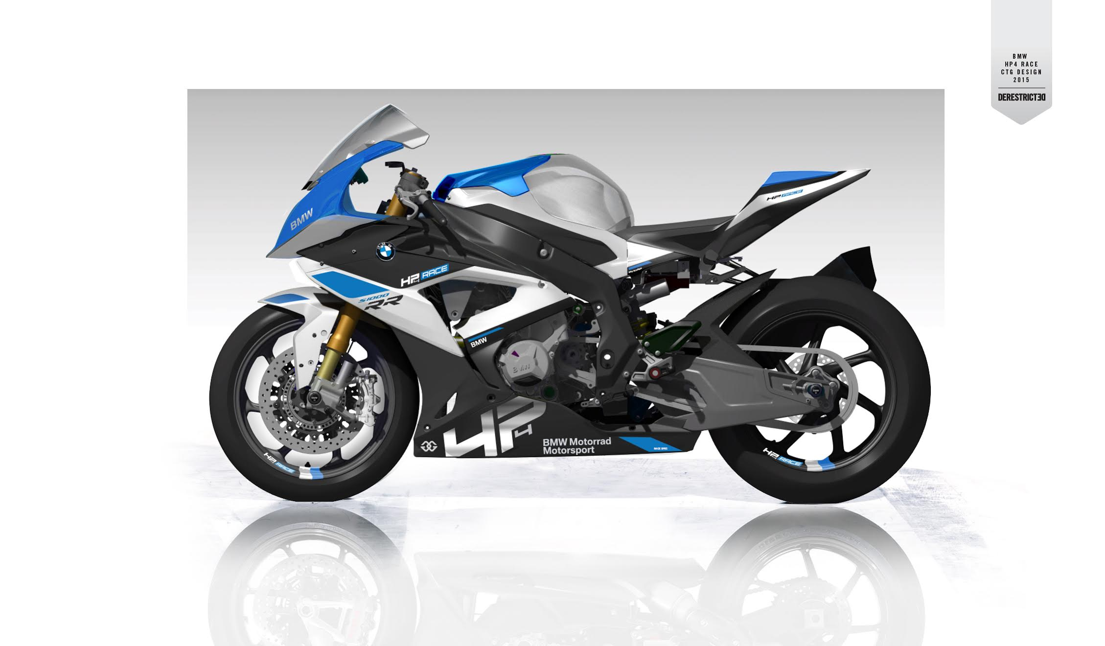 the new bmw hp4 race.   derestricted