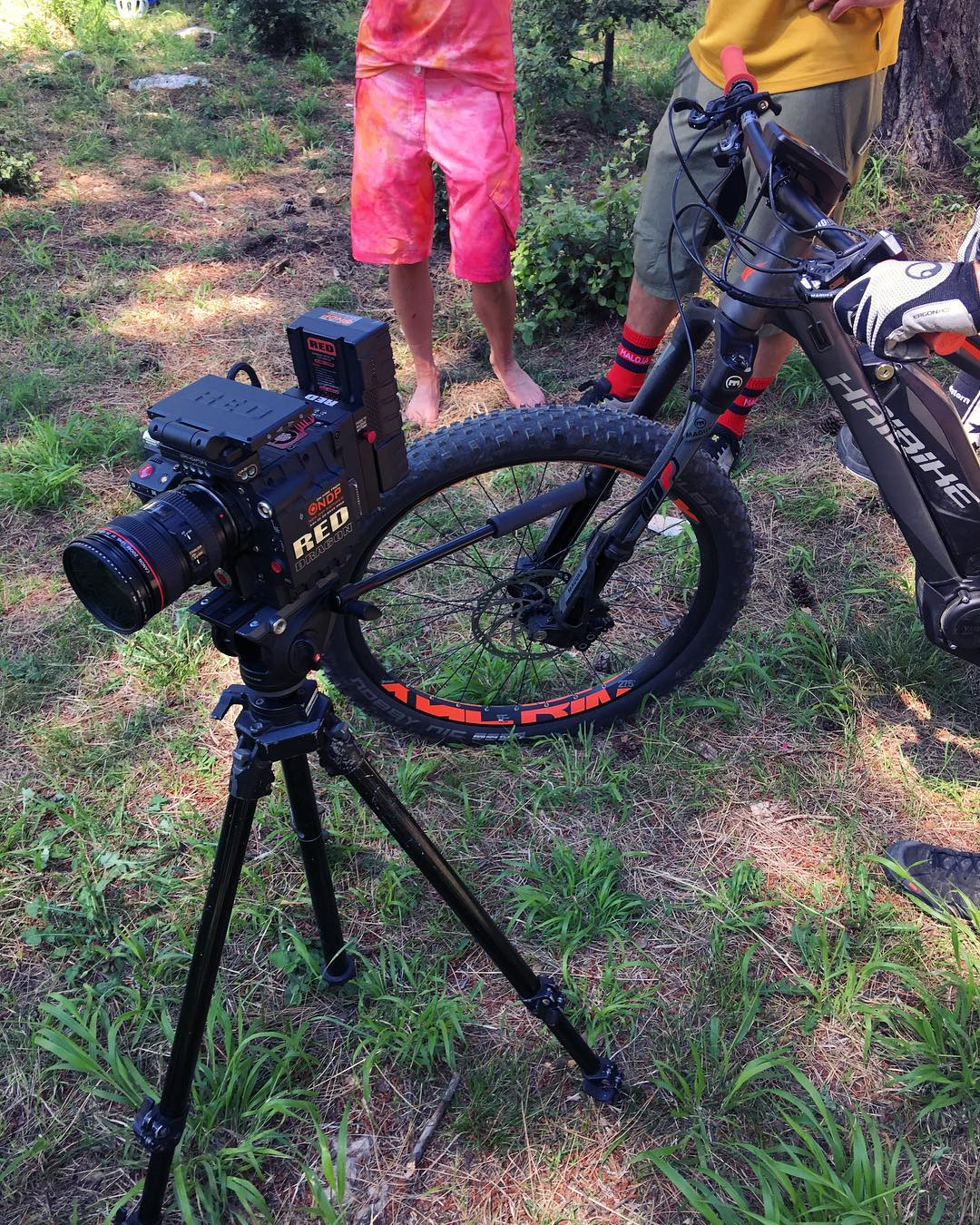 On set with @haibike_official ! #haibike #allmtn #sduro #yamaha #emtb #mtb #design