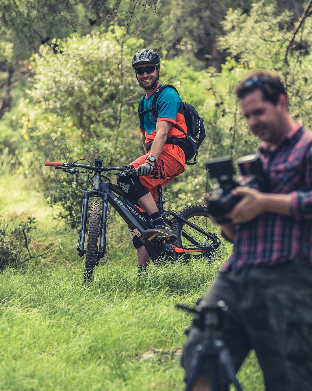 It was rad to shoot and film with @andiwittmann out in Croatia last week. He has been through some nasty injuries the last years but he was riding like a champ and was a star on set. #haibike #allmtn #yamaha #sduro #ebike #emtb #mtb