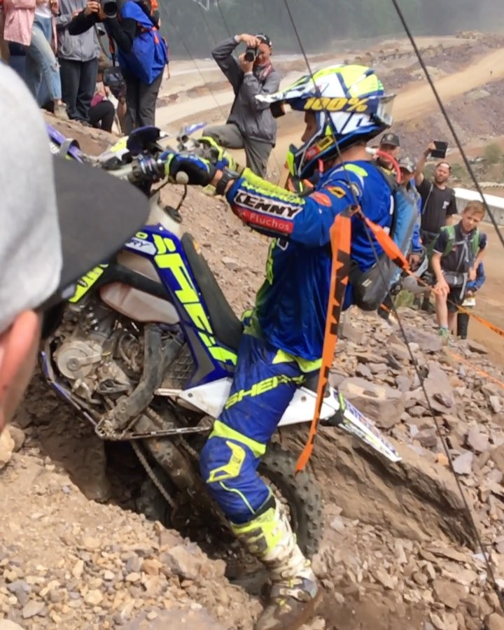Such a gnarly race! Shot lots of photos on DSLR that I need to DL but got this one clip on phone to post. #enduro #ride100percent