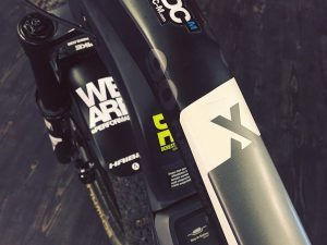 Logo Monday! How many logos do you have on your bike 😂? #xduro #haibike #carbonbike #weareeperformance #boschebikesystems #officelife #emountainbike #emtb #ebike