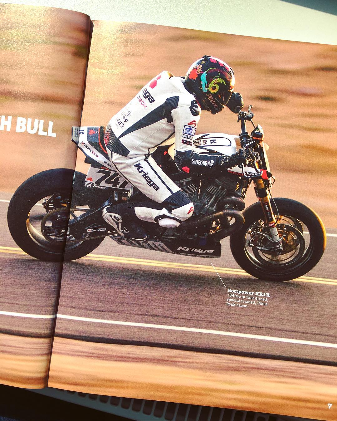 Shot of the highly tuned 1340cc @bottpower #xr1r we worked on the graphics for in the latest @sideburnmag . Get issue 30 from the sideburn website for the full Pikes peak story! #de_portfolio