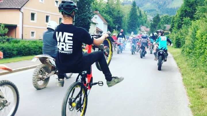 #wheeliewednesday :) Felix with the tricks! #haibike #enduro #downhill #emtb #mtb #ebike #eperformance