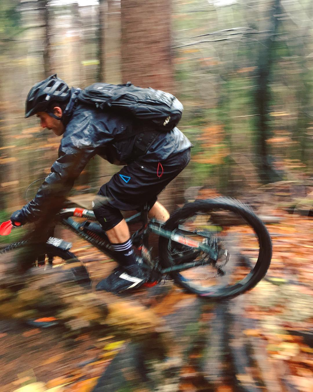 Wet and wild in the woods today! #rideordie #mtb #haibike #design #emtb #weareeperformance #bike #adidasmtb #adidasbike