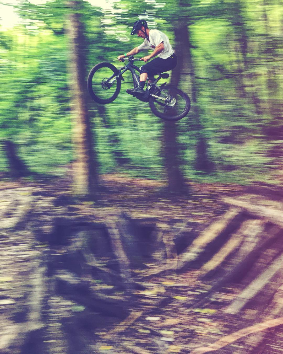 So stoked to have @sampilgrim signed to @haibike_official ! Here is an iPhone shot from a first ride we did with him back in the summer in Munich. Can't wait to ride, shoot and get his feedback to further develop the bikes over the next  couple of years. #eMTB #enduro #haibike #mtb