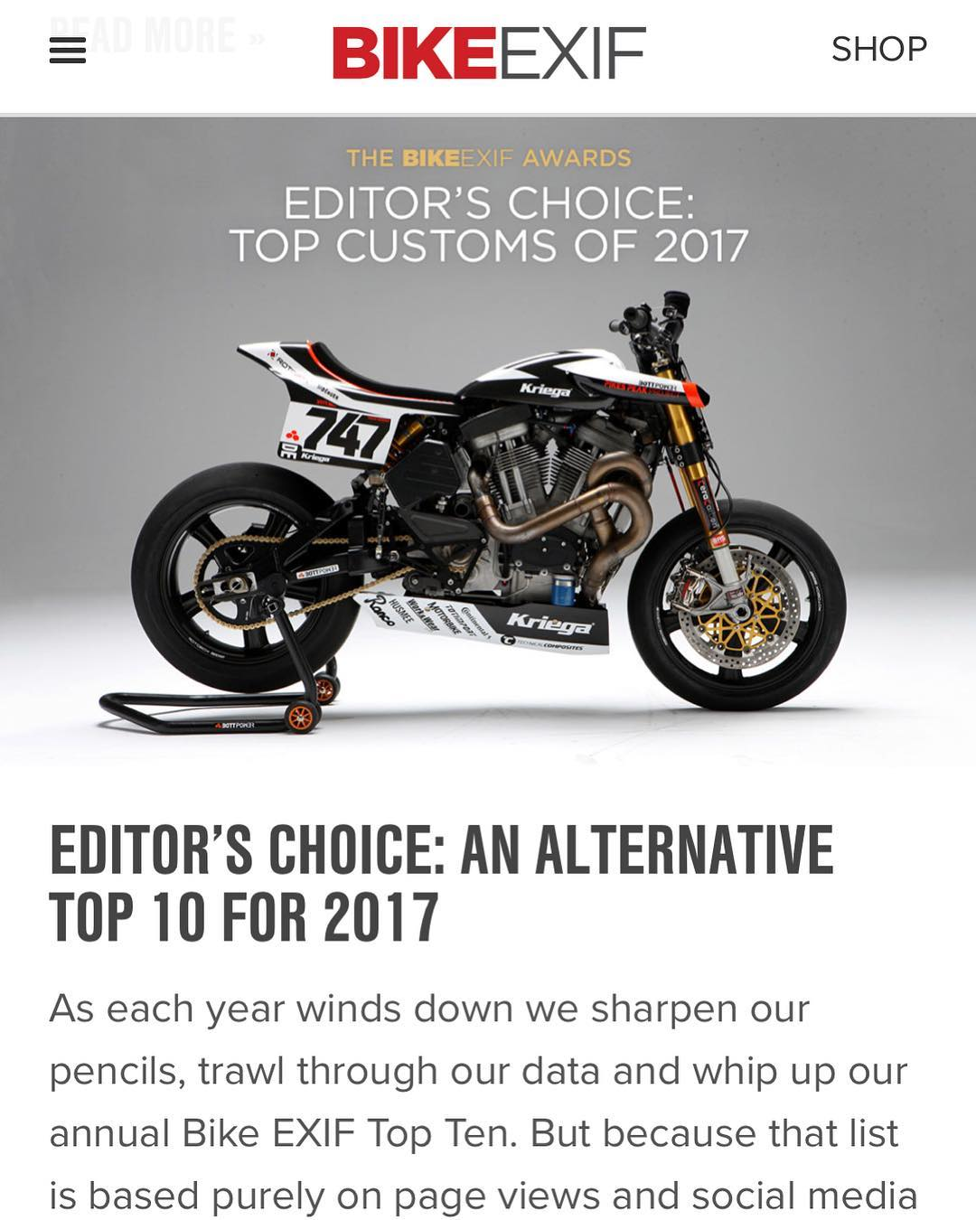 Chuffed to see the one and only motorcycle graphic I worked on last year making it to the top of the editors list on @bikeexif ! Thanks @bottpower for the chance to work on such a special bike! #design #xr1r #buell