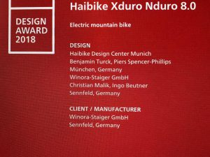 We won an iF 2018 Design Award for the Haibike XDURO NDURO 8.0!  It feels great to win an award, but we are looking forward just as much to the feeling of riding one of these up and down some big mountains!  180mm of travel gives you the confidence to ride fast on technical trails and send it off jumps, whilst the geometry on the latest Nduro's let's you feel right at home when the going gets steep and rough. #Agencylife #emtb #haibike #design #nduro #xduro