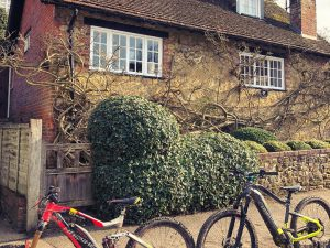 The legendary village of Peaslake in the loamy Surrey hills. #emtb #agencylife