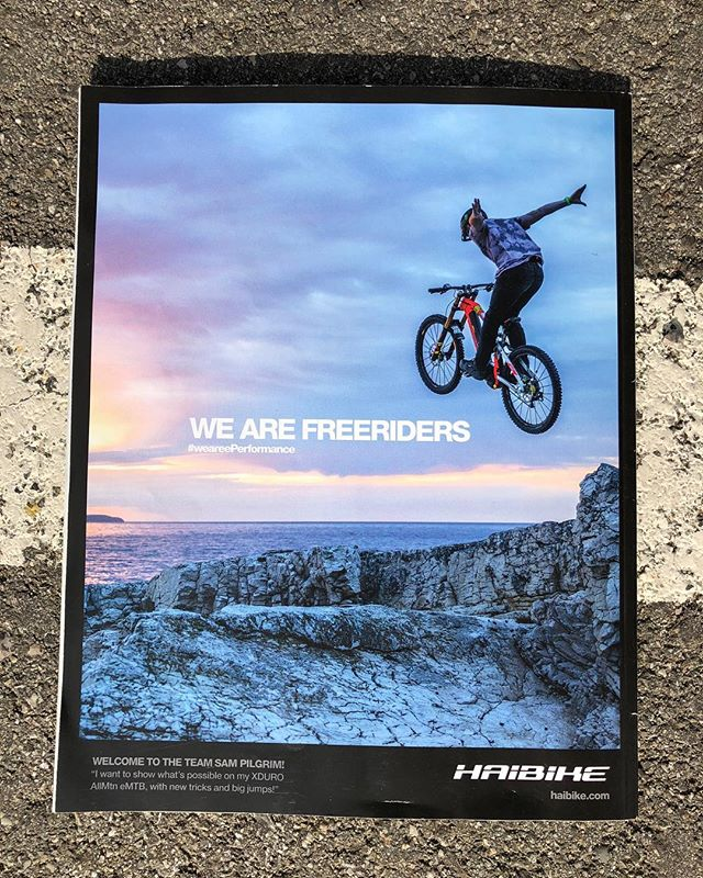 Latest #Haibike ad with a shot from our recent shoot in #losinj featuring @sampilgrim #emtb #weareeperformance #ebike #mtb #freeride
