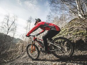 """""""The best thing about an eBike obviously is the fact that once you've done the sickest line of your life you can just ride back to the top and then do it again and have the second sickest ride of your life."""" – @sampilgrim #haibike #weareeperformance #ebike #emtb #freeride #downhill #mtb #xduro #allmtn"""