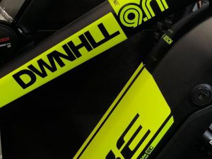 On a scale of one to ten for the different cycling categories, we would rate the sport of Downhill MTB as a 10 for how bold, fast, and gnarly it is, so it seemed only appropriate to turn the volume up to 11 on our designs for the Color, trim and graphics of the eMTB version for #Haibike ! Why do you need a downhill eMTB? Obviously so you can pedal quickly up to the top again to shred back down! Uplift everywhere! #emtb #downhill #weareeperformance