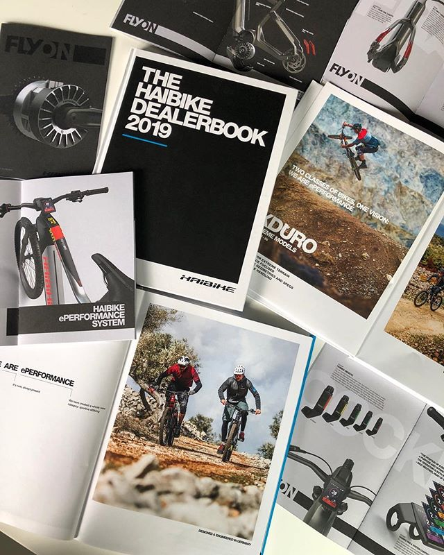 Some of the communication material we designed for Haibike's MY19 launch. #design #emtb #haibike
