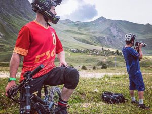 Photoshoot in La Plagne with @haibikefrance . We took photos of @sampilgrim ripping the trails on the first two samples from the  @haibikeofficial MY19 range. 📷 @haibikefrance  #agencylife #haibike #weareeperformance #emtb #downhill #ride100percent #mtb