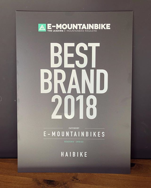 Thanks to everybody who voted for Haibike, the brand we spend our days designing and creating for! The latest @ebike_mtb survey had 10.622 people participating in the survey. #haibike #design #weareeperformance