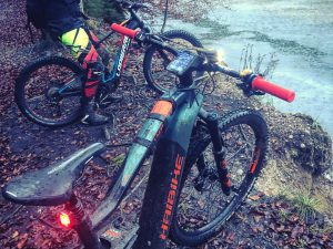 Proper winter ride today! Full on mud and rain fest with 1 hour of riding In the dark with powerful lights in tight trails. Sensory overload! Total buzz. The FLYON was the dream. Flawless. #haibike #eebit #ride100percent #emtb #FLYON #ebike #enduro