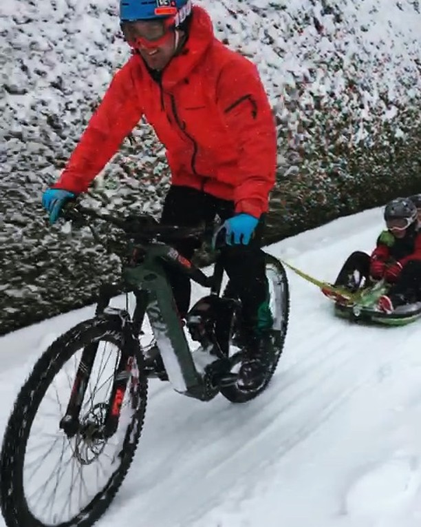 Ok, corner boys. #snow #wipeout #haibike #ride100percent