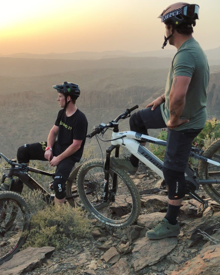 Heading home today after an amazing weeks photoshoot with these dudes in Gran Canaria #haibike #emtb #enduro #mtb