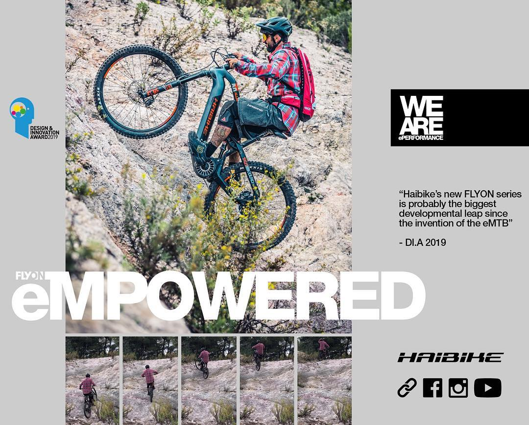 Latest Haibike ad.  Piers #haibike #emtb #eperformance #empowered