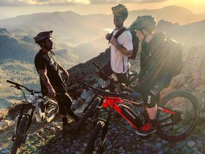 The light was epic this evening! Super successful photoshoot so far with the #haibike crew! #eMTB #enduro #eebit #mtb