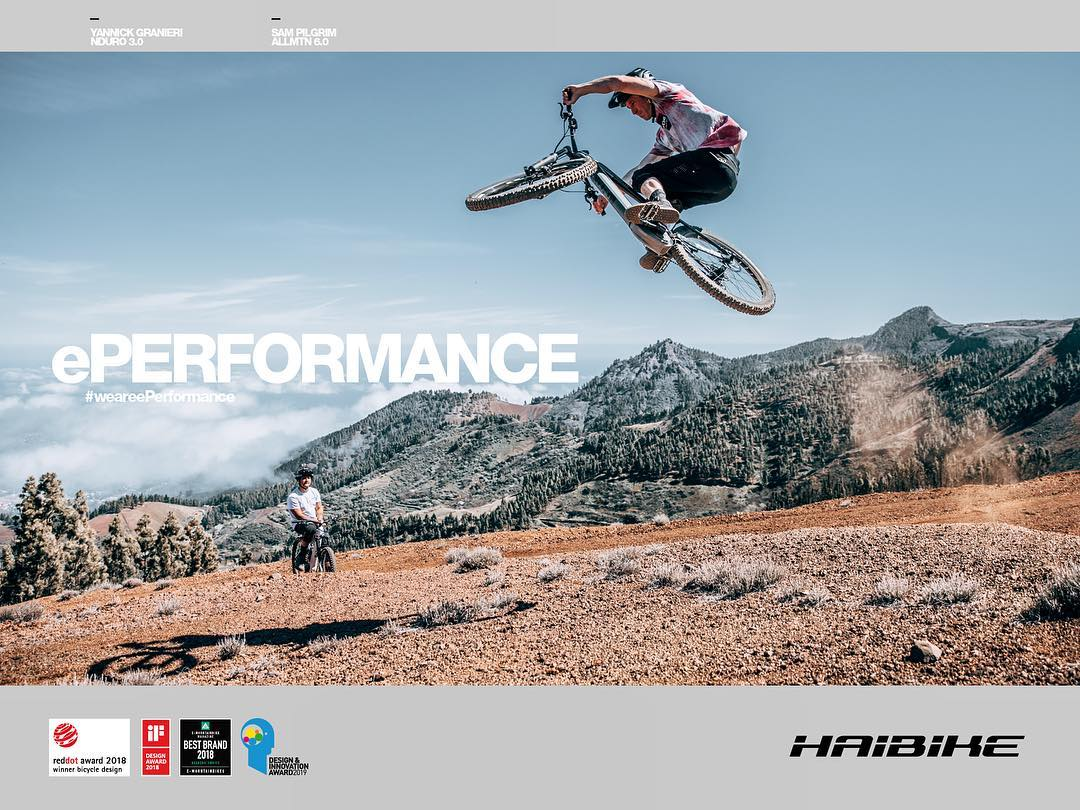 This is the latest ad we created for @enduromag . The focus of the magazine is on the more traditional Mountain bike segment, which has a slightly younger focus than the eMTB demographic, with generally more experienced, extreme riders.  The goal of the ad was therefore to show that Haibike's focus on ePerformance has created eMTB's that are just as capable, if not more so than non motorised bikes, especially in ways that people generally perceive eBikes to be at a disadvantage. The extra weight offers additional stability in the air, and if you are so inclined, you can send it just as big on them, if not bigger, as Haibike pro @sampilgrim demonstrates in this photo we shot of him in Gran Canaria recently! #enduro #emtb #ebike #eperformance #design #haibike
