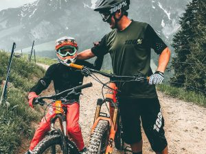Good times in Leogang with the fam. #ride100percent #mtb #leogang #emtb #downhill