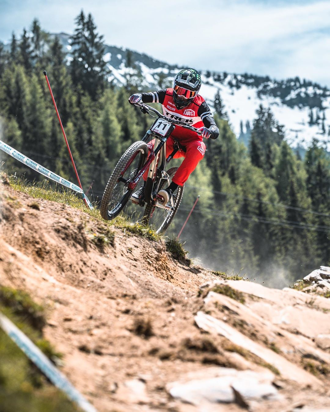 Little sequence I took of @charlie_harrison_ absolutely flying through this section at Leogang last weekend. #ride100percent #downhillmtb #mtb #downhill