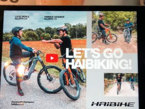 New ad we designed and photographed for @ebike_mtb featuring @yannickgranieri and @luciemrle #design #ebike #haibike #designstudio #photoshoot #emtb